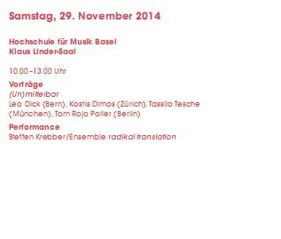 Basel Konzert November 2014