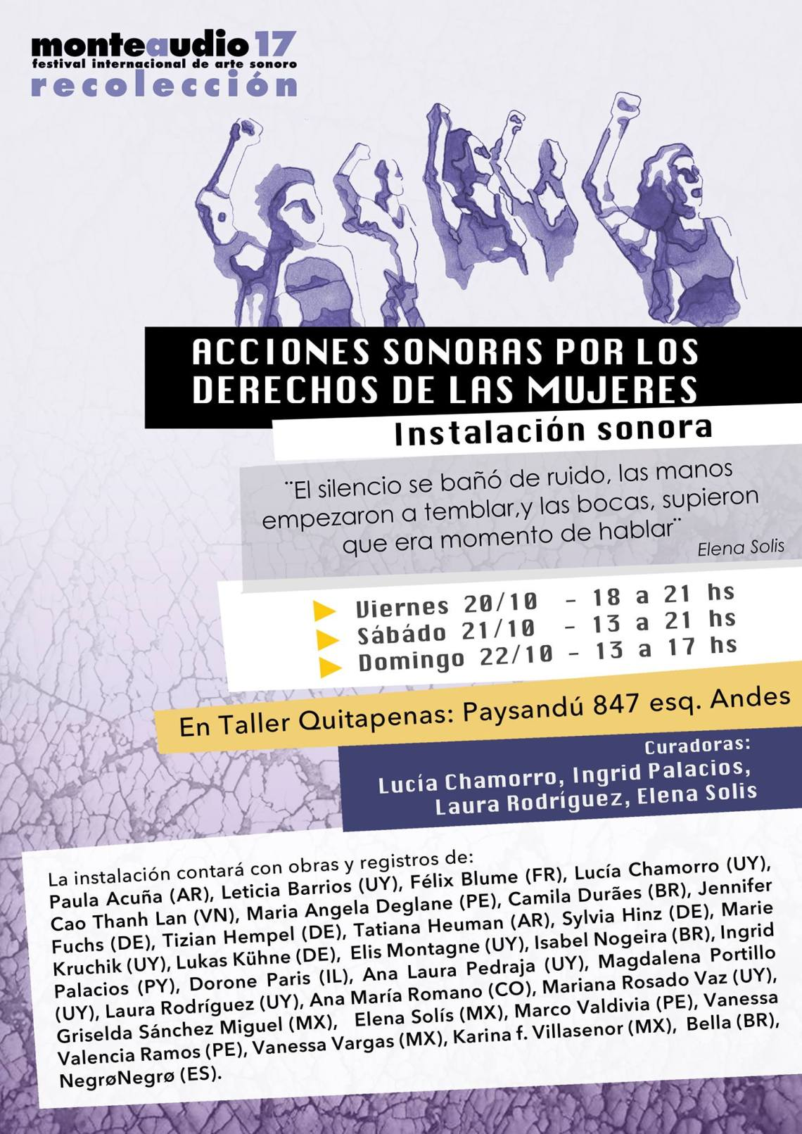 Uruguay sound installation for women's rights